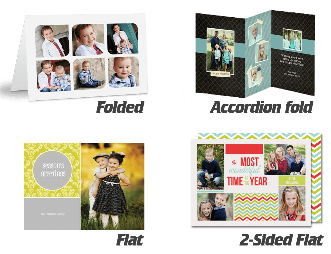 Examples of custom greeting cards to choose from